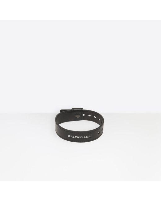 Balenciaga - Black Party Bracelet for Men - Lyst