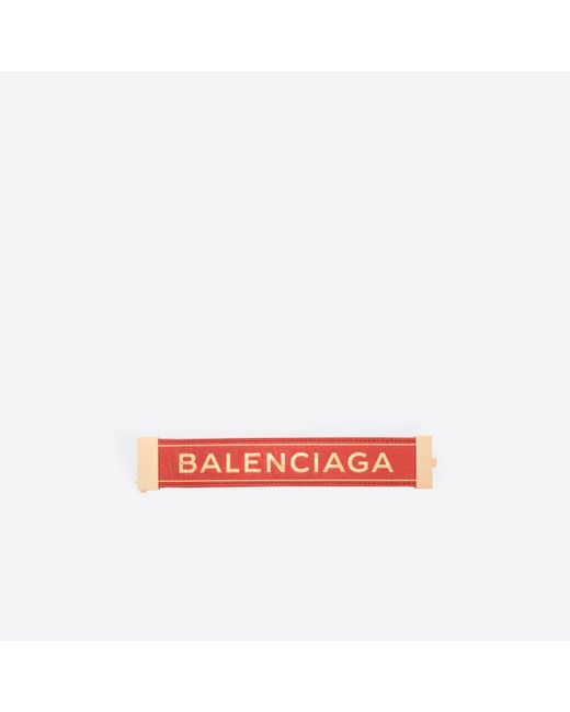 Balenciaga | Red Blanket Bracelet | Lyst