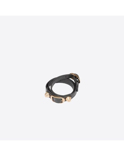 Balenciaga | Gray Giant Gold Bracelet Triple Tour | Lyst