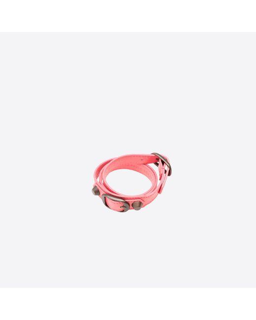 Balenciaga | Pink Classic Bracelet Triple Tour | Lyst