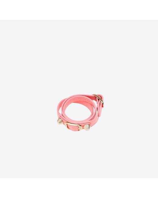 Balenciaga | Pink Giant Gold Bracelet Triple Tour | Lyst