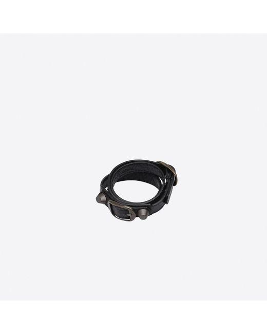 Balenciaga | Black Classic Bracelet Triple Tour | Lyst
