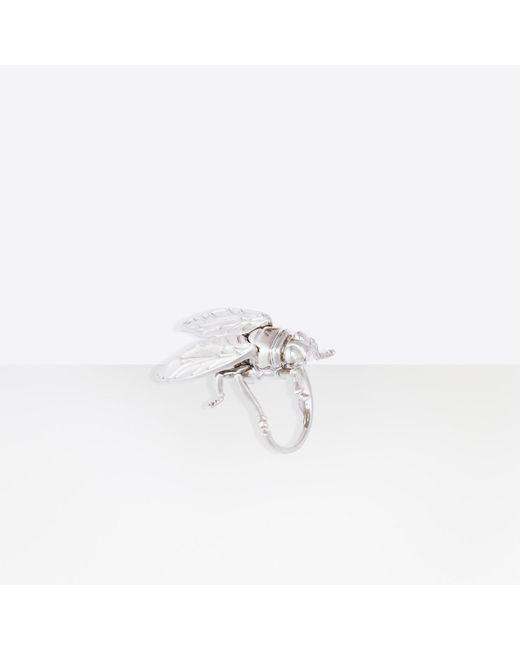 Balenciaga | Metallic Bug Ring | Lyst