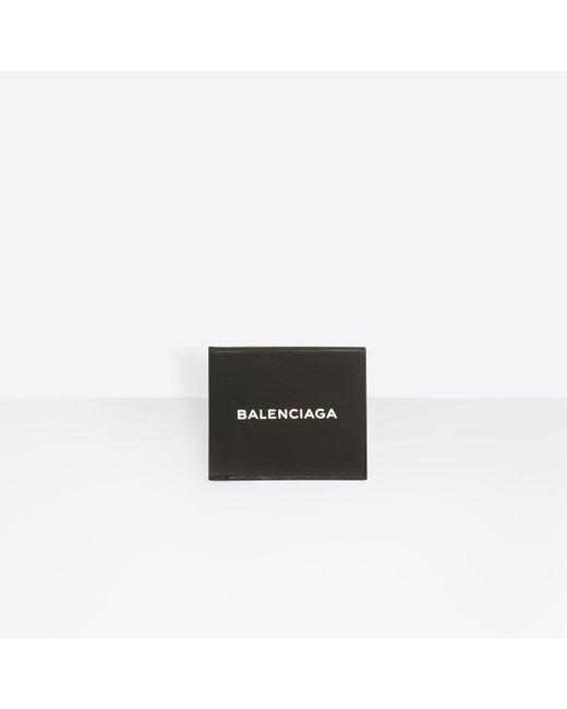 Balenciaga - Black Everyday Square Wallet for Men - Lyst