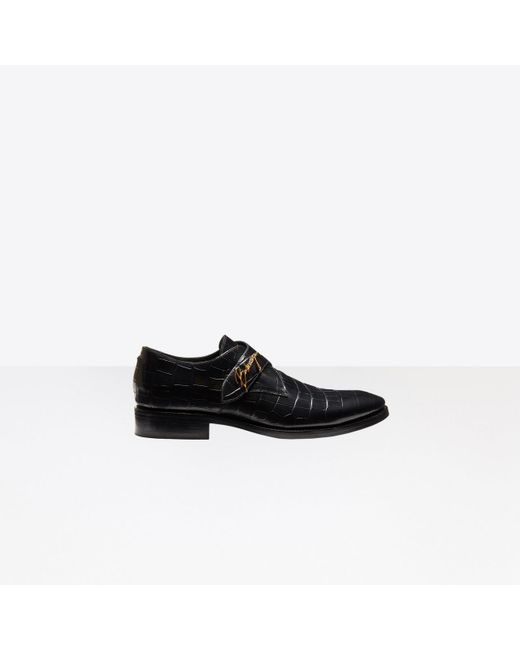 Balenciaga - Black Derbies monkstrap City Evening for Men - Lyst