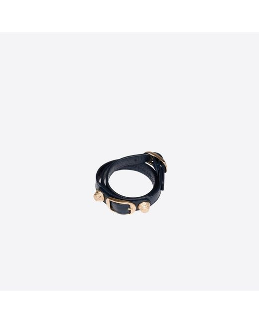 Balenciaga - Blue Giant Gold Bracelet Triple Tour - Lyst