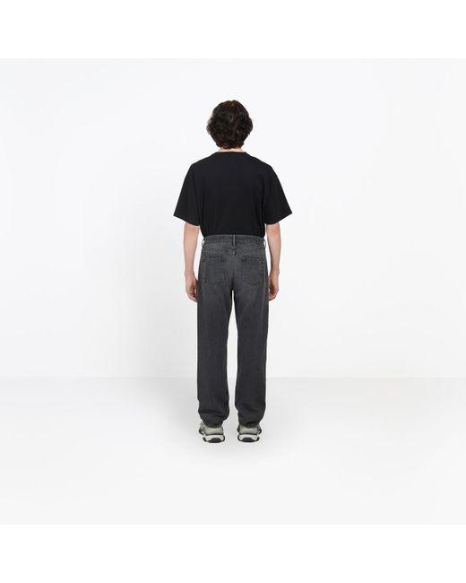 c5c6057bce ... Balenciaga - Gray Knee Hole Jeans for Men - Lyst ...