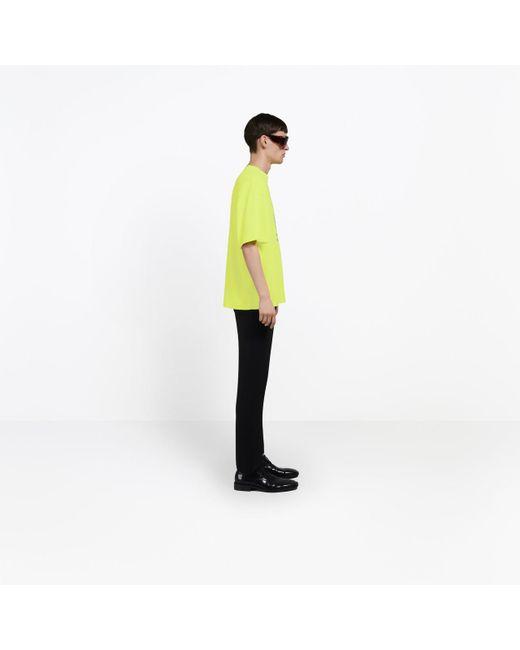 ca3639a8 ... Balenciaga - Yellow World Food Programme T-shirt for Men - Lyst ...