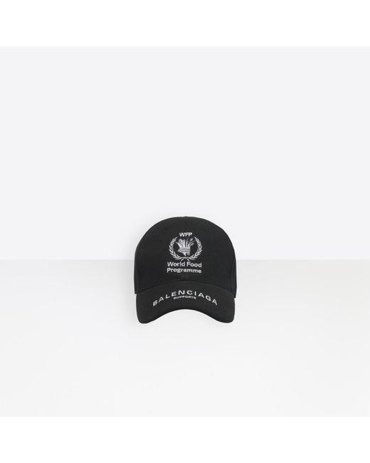31ce9a8b Balenciaga World Food Programme Cap in Black for Men - Save 4% - Lyst