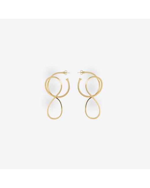 Balenciaga - Metallic Circle Elastic Earrings - Lyst