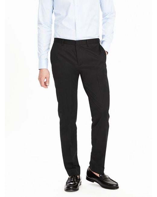 Banana Republic | Black Slim Non-iron Cotton Pant for Men | Lyst