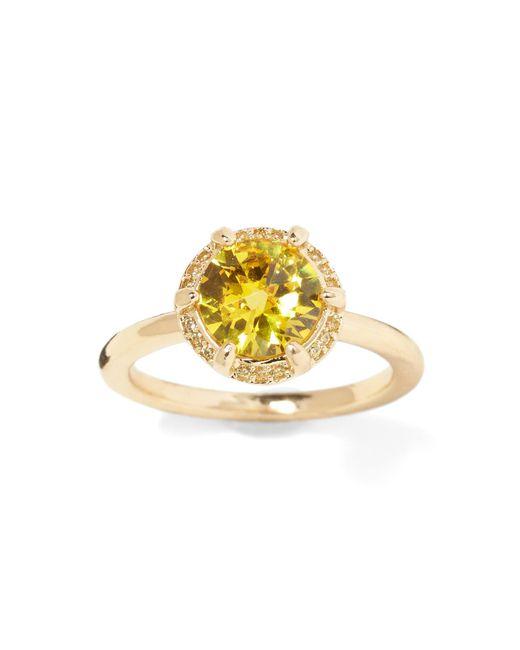 Banana Republic - Yellow Bare Sunflower Stones Ring - Lyst