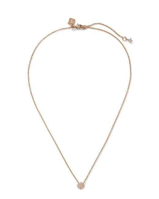 Banana Republic - Metallic Pave Circle Pendant Necklace - Lyst
