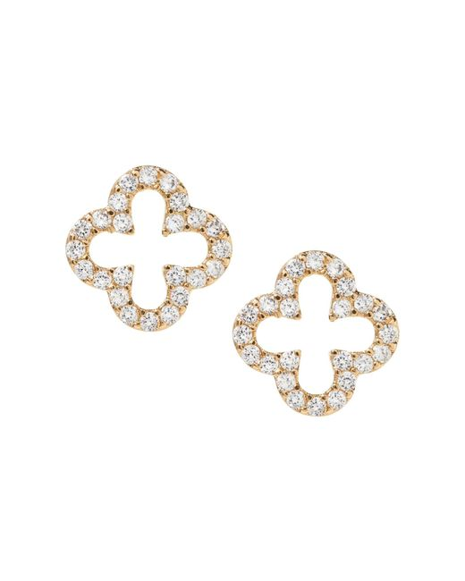 Banana Republic - Metallic Pave Open Clover Stud Earring - Lyst
