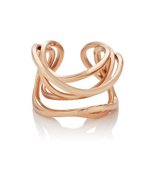 Dauphin - Metallic Serpentine Cuff Ring Size 6 - Lyst