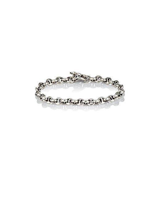 Hoorsenbuhs - Metallic Diamond & Silver 'h' Chain for Men - Lyst