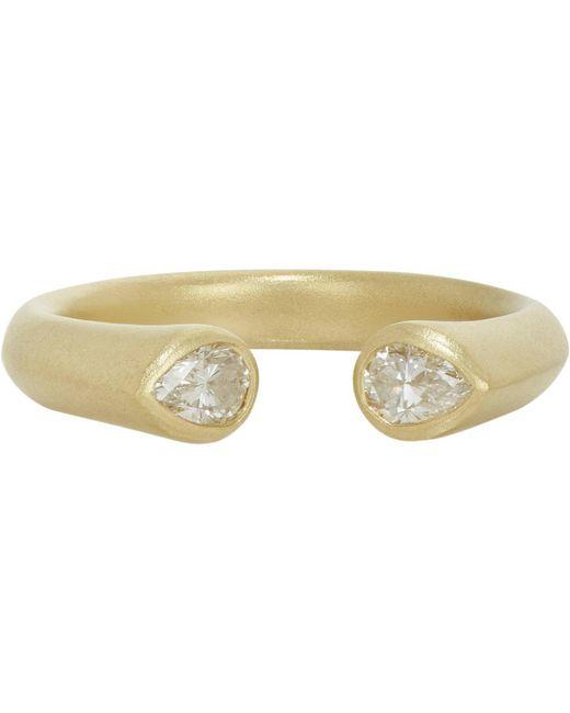 Tate   Multicolor Diamond Cuff Ring   Lyst