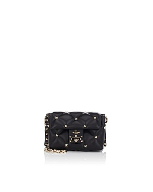 Valentino - Black Candystud Mini Leather Shoulder Bag - Lyst