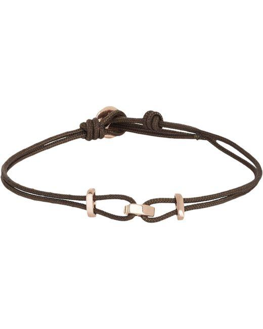Zadeh - Pink Rose Gold & Parachute Cord Bracelet for Men - Lyst