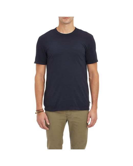 James Perse | Blue Jersey Crewneck T for Men | Lyst