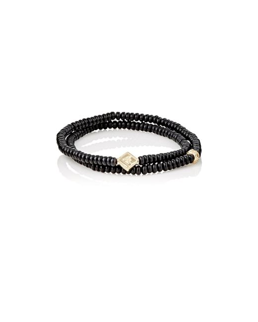 Luis Morais | Black Rondelle Double-wrap Bracelet for Men | Lyst
