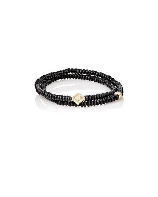 Luis Morais - Black Rondelle Double-wrap Bracelet for Men - Lyst