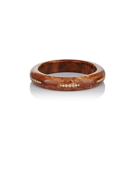 Mark Davis | Brown Jane Bakelite Bangle | Lyst