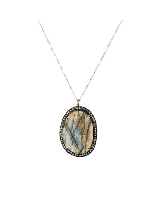 Feathered Soul - Metallic Labradorite Pendant Necklace - Lyst