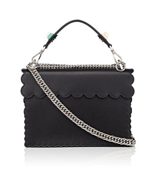 Fendi Kan I Leather Shoulder Bag in Black - Save 31.869624264373016 ... 2a6d174f007b0
