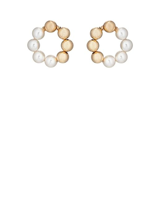 Beck Jewels - Metallic Large Og Pearl Hoop Earrings - Lyst