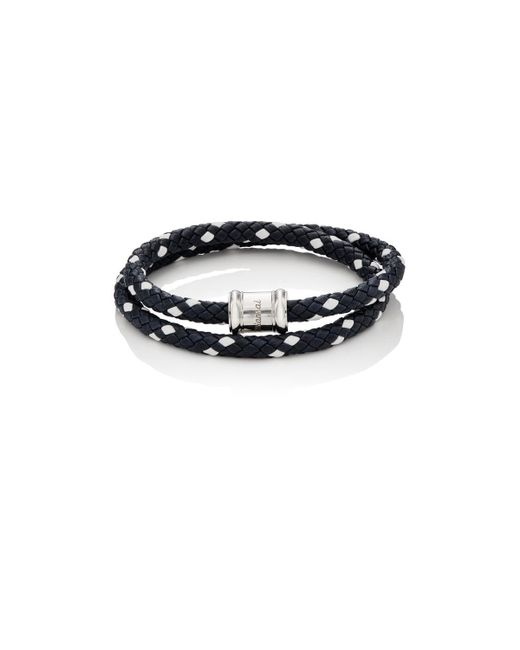 Miansai - Blue Leather Wrap Bracelet - Lyst