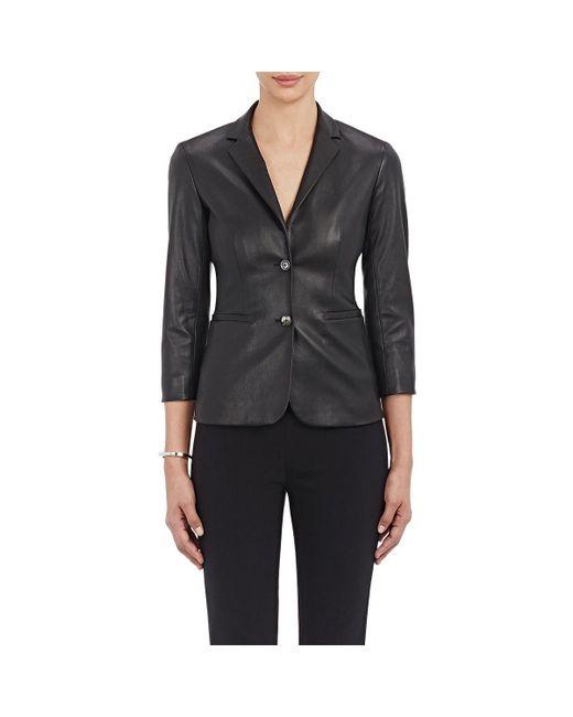 The Row - Black Leather Nolbon Jacket - Lyst