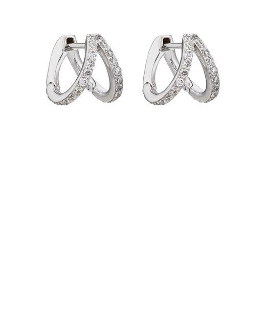 Carbon & Hyde - Metallic Split Huggie Hoop Earrings - Lyst