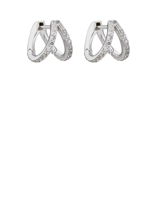 Carbon & Hyde - Metallic Split Huggie Hoop Earrings - Lyst