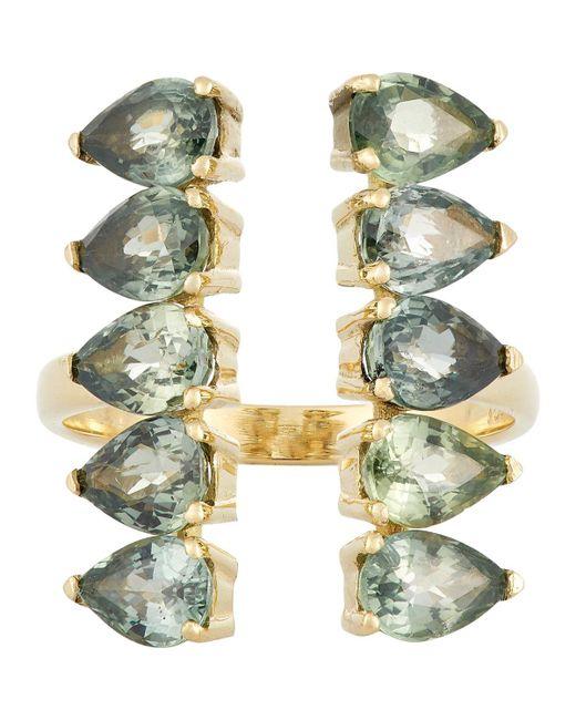Ileana Makri | Multicolor Gemstone Deco Column Ring | Lyst