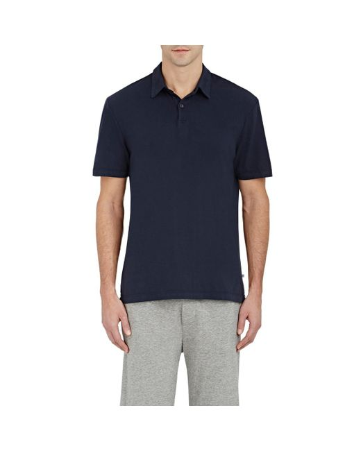 James Perse - Blue Jersey Polo Shirt for Men - Lyst
