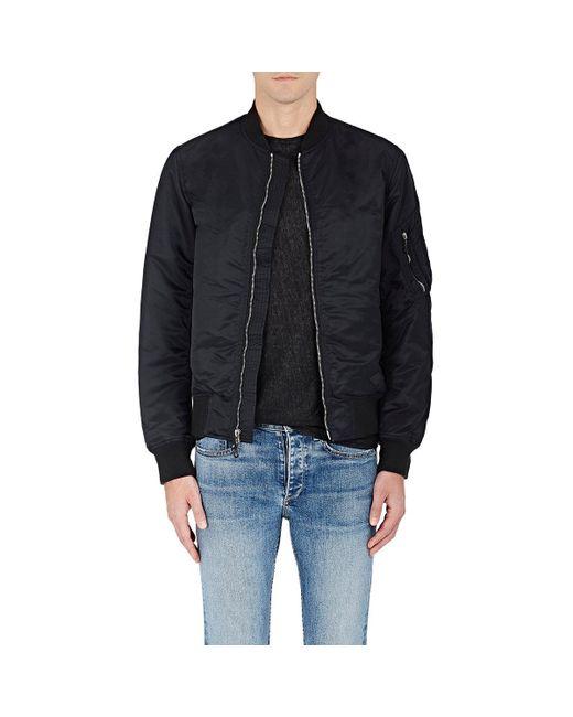 Rag & Bone - Black Manston Insulated Bomber Jacket for Men - Lyst