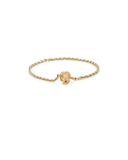 Luis Morais - Metallic Half-skull-clasp Chain Bracelet for Men - Lyst