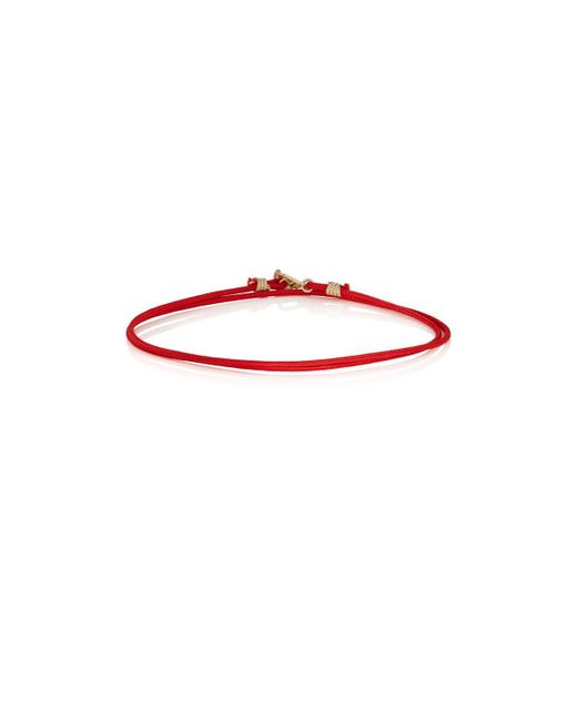 Luis Morais - Red Double-wrap Cord Bracelet for Men - Lyst