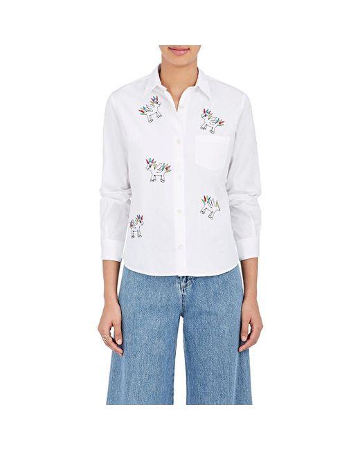 Jimi Roos - White Punk Pony Cotton Poplin Shirt - Lyst