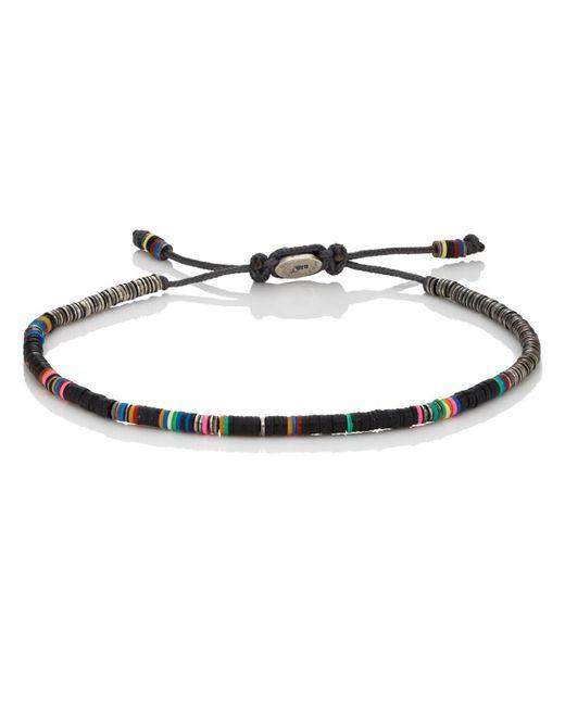 M. Cohen - Black Rondelle Bracelet for Men - Lyst