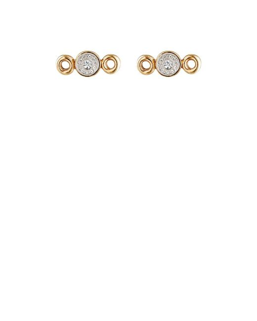 Maison Mayle | White Sequins Stud Earrings | Lyst