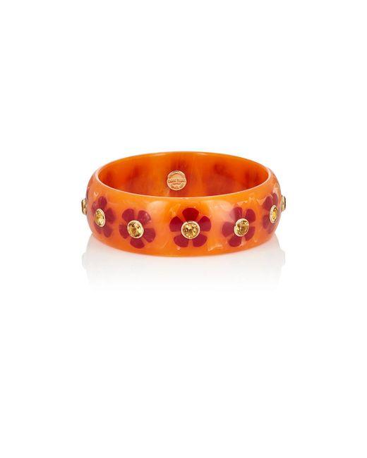 Mark Davis   Orange Floral Bakelite Bangle   Lyst