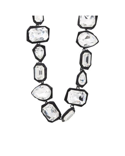 Ambush - Black Crystal-embellished Geometric-link Choker - Lyst