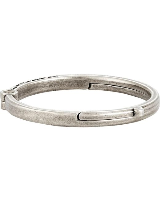 Giles & Brother - Metallic Latch Cuff Bracelet for Men - Lyst