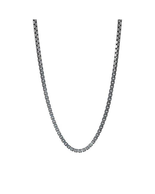 Loren Stewart - Metallic Sterling Silver Box-chain Necklace for Men - Lyst