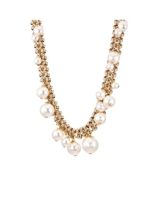 Lanvin | Metallic Imitation-pearl | Lyst