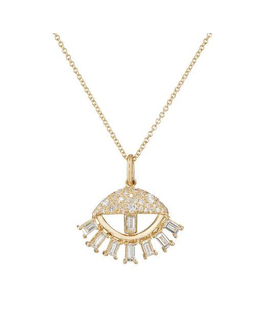 Ileana Makri - Metallic Sleepy Eye Pendant Necklace - Lyst