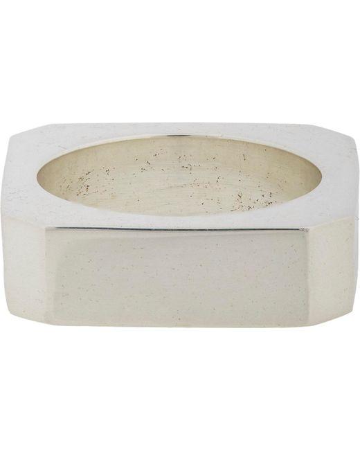Loren Stewart - Metallic Silver Square Ring for Men - Lyst