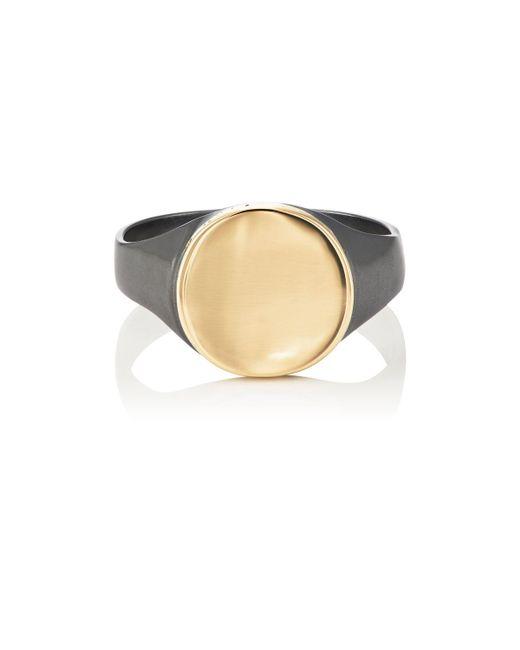 Loren Stewart - Black Round Signet Ring - Lyst